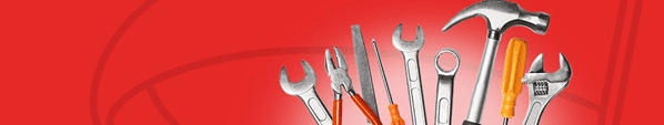tools with red background